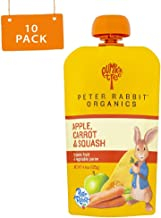 Peter Rabbit Organics Apple, Carrot and Squash Puree, 4.4-Ounce Pouches (Pack of 10)