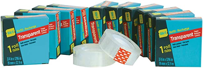 6 Pack 56351 Le Page Seal It All Purpose Tape Clear 1.88 Inch x 109.4 Yards .
