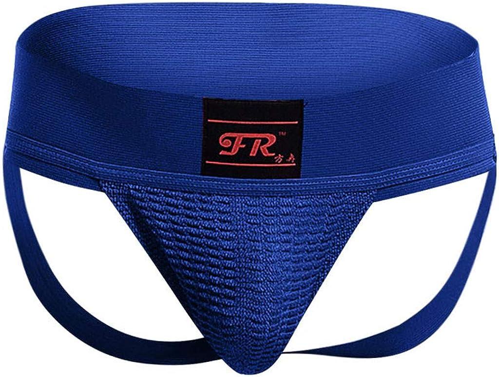 FIRERO Mens Double Thongs Underwear Men's Low Rise Sports Underwear