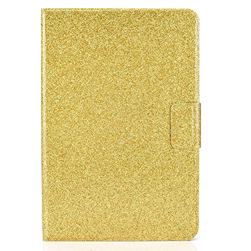 Miagon for iPad Mini 1/2/3/4/5 {7.9'} Glitter Case,PU Leather Folio Stand Wallet Smart Cover Shiny Sparkle Shockproof Shell with Auto Wake/Sleep,Gold