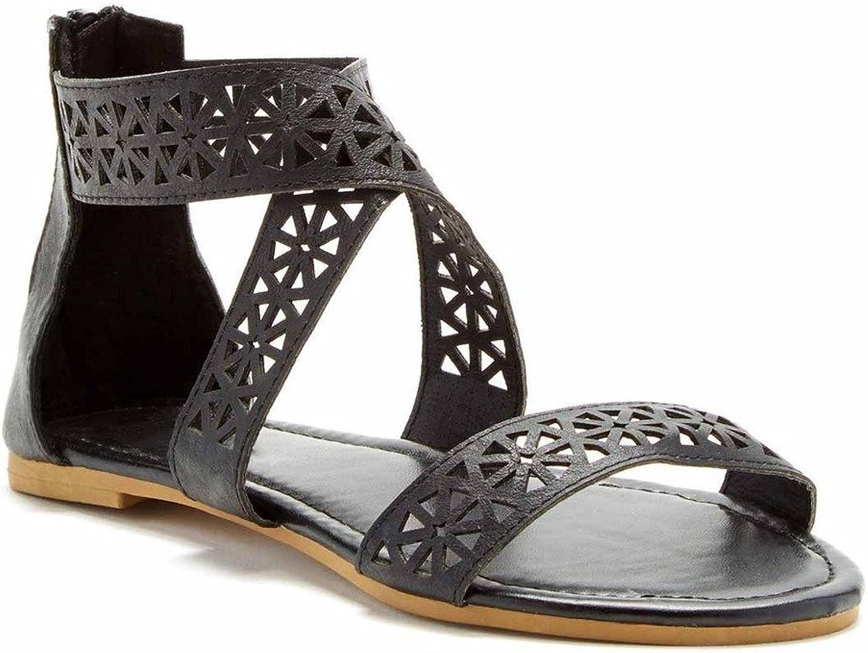 Charles Albert Women's Ankle Strap Gladiator Flat Sandals