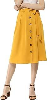 Best long button front skirt Reviews