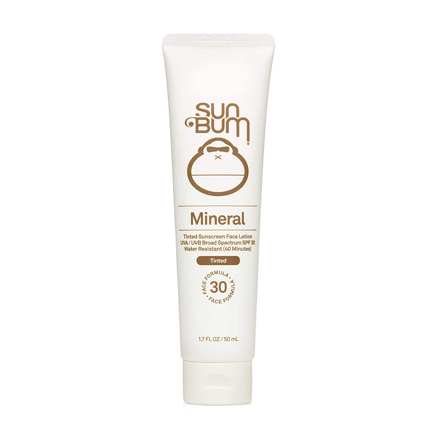 Sun Bum Mineral SPF 30 Tinted Sunscreen Face Lotion | Vegan and Reef Friendly (Octinoxate & Oxybenzone Free) Broad Spectrum Natural Sunscreen with UVA/UVB Protection