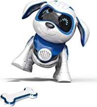Yeezee Wirless Robot Puppy, Interactive Little Baby Pup with Magent Bone, Walking Talking Remote Control Dog, Robot Pet for Kids/Boys/Girls (BB-1)