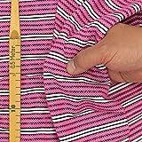 kawenSTOFFE Jerseystoff Pink Blockstreifen Punkte Stretch
