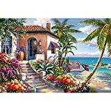HUADADA Jigsaw Puzzles for Adults 1000 Piece Jigsaw Puzzle 1000 Piece Seaside Scenery Landscape Puzzle Family...