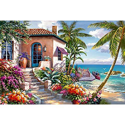 HUADADA Jigsaw Puzzles for Adults 1000 Piece Jigsaw Puzzle 1000 Piece Seaside Scenery Landscape...