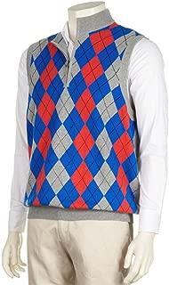 Collection Men's Lined 1/4 Zip Argyle Wind Vest