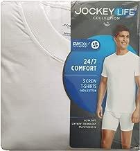 Jockey Life 3-Pack Men's Premium Cotton T-Shirts - White 100% Cotton