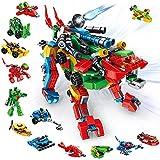 VATOS Set de Bloques de Construcción, 630 PCS Alphabets Robot Juguetes de Construcción | 27-in-1 Aprendizaje Educativo Transformers Toys para Niños Niñas 5 6 7 8 9 10 11 12 Años de Edad