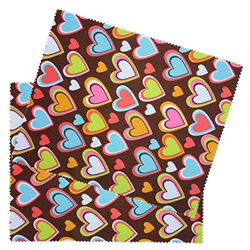 2 Pack harten op chocolade microvezel bril lens schoonmaken doek