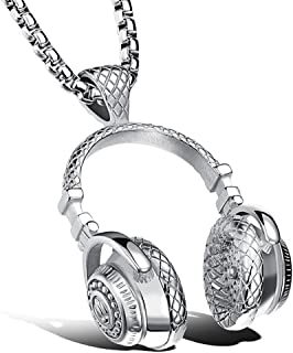 Apopo Fashion Stainless Steel Headphone Pendant Necklace...