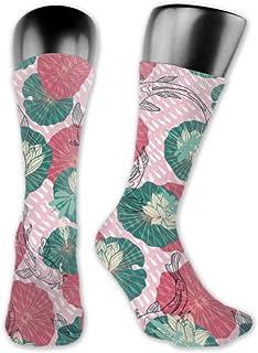 Leila Marcus, calcetines para hombre y mujer son cómodos, ligeros y sudorosos, para hombre, diseño divertido de líneas medias y largas