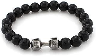 Avory Perfect 9 Color 8mm Lava Onyx Matte Beads Adjustable Mens&Girls Bracelet Natural Stones Live Lift Dumbb