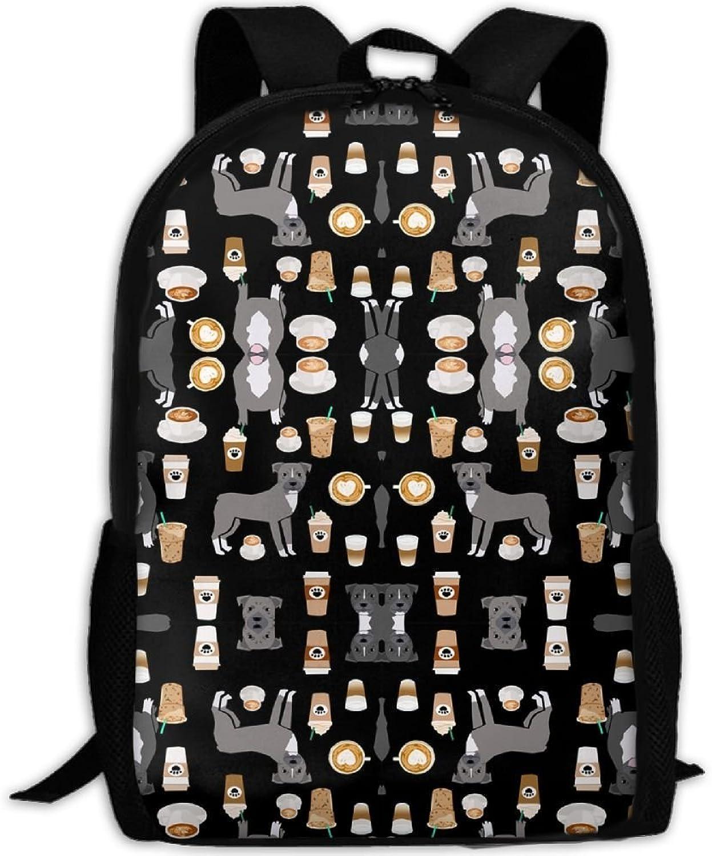 grau Coat Coffee Latte Cafe Dog schwarz 3D 3D 3D Print Backpack College School Laptop Bag Daypack Travel Shoulder Bag for Unisex B07Q27MHR7  Rabatt 8eff64