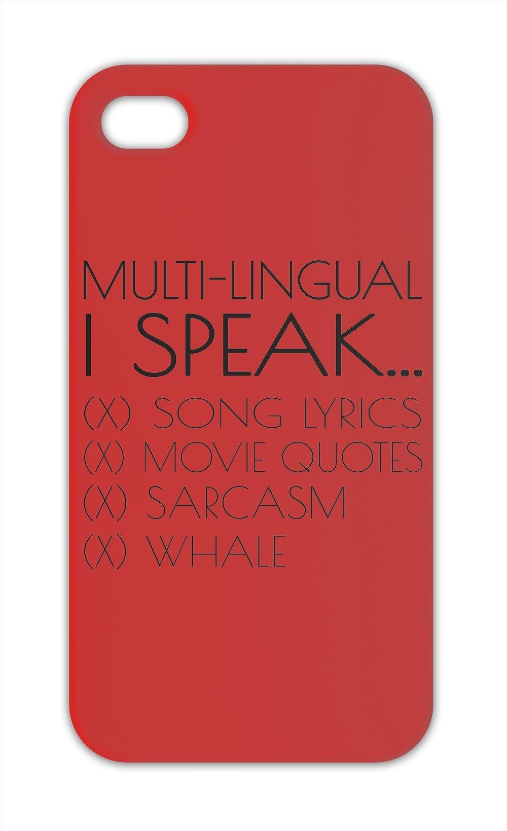 Multi lingües I Speak busqua Sarcasm con letra de la canción de frases de Carcasa para iphone 5 y 5S funda-: Amazon.es: Electrónica