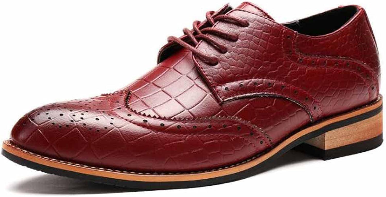 Men British New Derby shoes Brogue Business Dress shoes Fashion Low Top Wedding shoes
