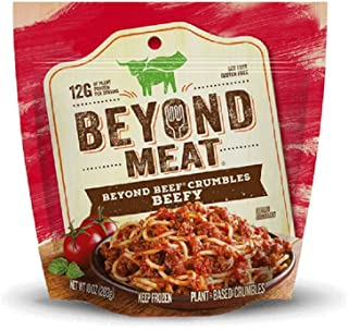 Beyond Meat Plant Based Protein Beef Crumbles, Beefy, 10 Oz (Pack of 8)