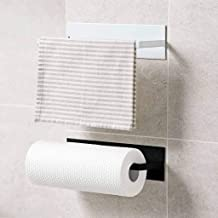 CHOUREN Self-adhesive Paper Holder/Multifunction Kitchen Towel Holder/Wall Mount Towel Roll Holder/No Drilling Bathroom Pa...