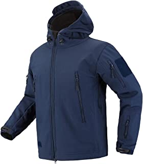 CARWORNIC Men's Military Special Ops Tactical Jacket Warm Hooded Outdoor Soft Shell Coat