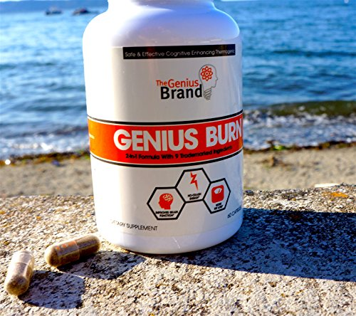 Genius Fat Burner - Thermogenic Weight Loss & Nootropic Focus Supplement - Natural Metabolism & Energy Booster for Men & Women | Thyroid Support and Appetite Suppressant w/ Gymnema Sylvestre, 60 Pills 10