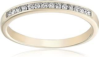 10KT Yellow Gold Round Diamond Anniversary Ring (1/10 CTTW)