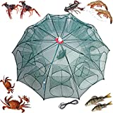 mlnyitus 2 pcs Foldable Fishing Bait Trap, 20 Holes Fish Trap for Outdoor catching Small Bait Fish net Crab Crawfish Automatic, eels Crab Lobster Minnows Shrimp