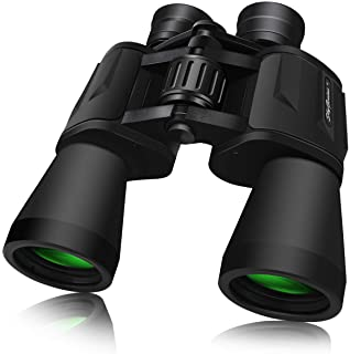 SkyGenius 10 x 50 Binoculars for Adults Full-Size, Binoculars for Bird Watching Sightseeing Wildlife Watching with Low Lig...