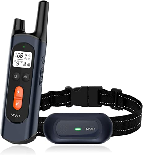 NVK Shock Collars for Dogs with Remote - Rechargeable Dog Training Collar with 3 Modes, Beep, Vibration and Shock, Wa...
