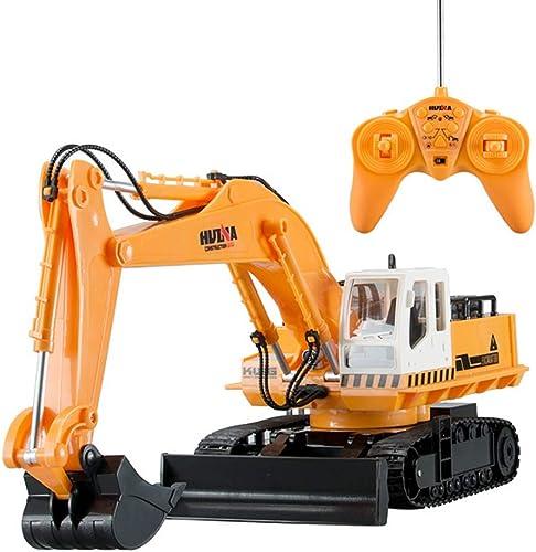 XISHU Kinderspielzeug,   Bagger Fernbedienung 54 cm Hohe Simulation Professional BAU Spielzeug Fahrzeuge,Gelb