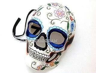 MasqStudio Día de Muertos Masquerade Sugar Skull Skeleton Mask Day of The Dead Wear or Deco (Blue)