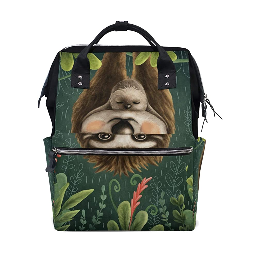 Cute Sloth Mom Baby School Backpack Large Capacity Mummy Bags Laptop Handbag Casual Travel Rucksack Satchel For Women Men Adult Teen Children w517996266