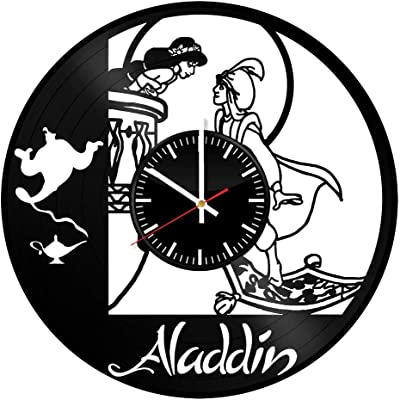 Victory Gifts Store Aladdin Disney Ornament Vinyl Record Wall Clock – Unique Gift for Kids and