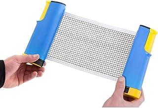 2ピースポータブルホルダーピンポンネット、格納式卓球ネットポストセット交換、どこでも調整可能、屋内屋外ゲーム