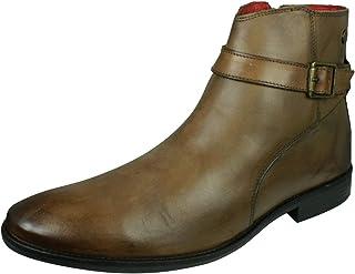 Base London Fern Hommes Cuir Bottes Chelsea Boots