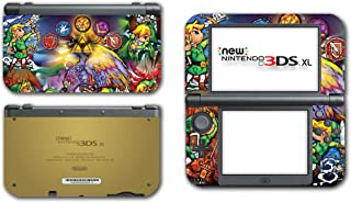 Legend of Zelda Link Wind Waker Stained Glass Video Game Vinyl Decal Skin Sticker Cover for the New Nintendo 3DS XL LL 2015 System Console