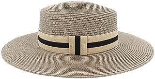 LiWen Zheng 2019 simple Summer Beach Hat Female Casual Panama Hat Lady Brand Women Flat brim Bowknot Straw cap girls Sun Hat