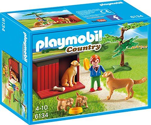 Playmobil 6134 - Golden Retriever mit Welpen