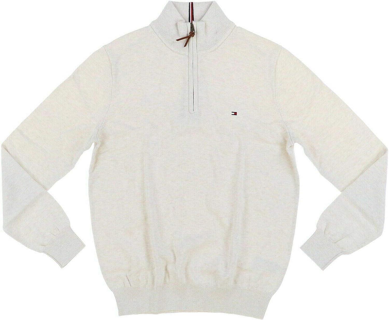 Tommy Hilfiger Mens Save money Quarter Sweater Zip Great interest Cardigan