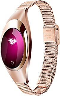 Reasoncool Z18 Fitness Tracker with Heart Rate & Blood Pressure & Sleep Monitor, IP67 Waterproof Ladies Jewelry Health Tracker with Color Screen,Calorie & Step Counter for Women Girls (Rose Gold)