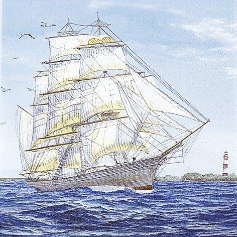 20 Servietten Sailing ship – Segelschiff / Maritim / Meer / Schiff 33x33cm