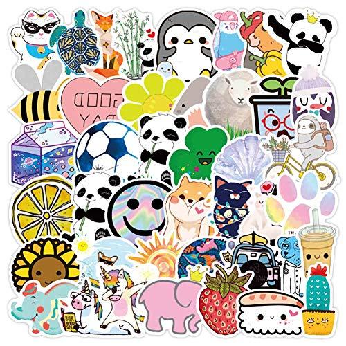 Chutoral 50 Stks/Pack Fresh Eenvoudige Cartoon Stickers Waterdichte Vinly Decals Skateboard Bagage Telefoon Laptop Koelkast Leuke Meisjes Stickers H01