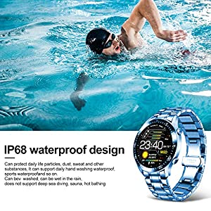 LIGE Smart Watch Fitness Tracker IP67 Waterproof Activity Tracker with Heart Rate Monitor, Color Screen Smartwatch Bracelet Pedometer Step Counter and Sleep Monitor for iOS Android iPhone, Orange