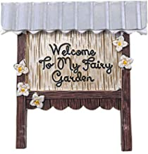 Fairy Garden Welcome Sign - Welcome to My Fairy Garden - 3.75 inches