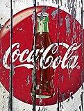 Placa de metal para pared con diseño retro de Coca-Cola
