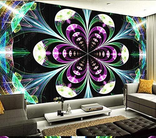 Papel Pintado 3D Decoración Murales Pared De Fondo De Ktv De Poste De Decoración De Papel Tapiz De Barra De Arte De Flores Coloridas-430Cmx300Cm
