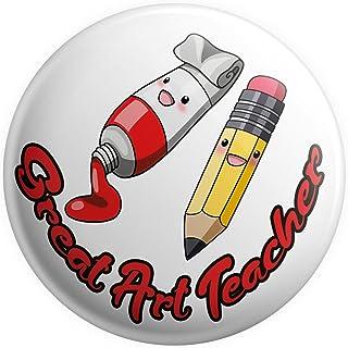 Grand badge pour professeur d'art – Grand badge – Cadeau pour enseignant – Cadeau de remerciement