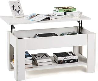 DADEA Table Basse avec Plateau Relevable, Table Basse relevable avec Espace de Rangement caché pour la Maison et Le bur a...