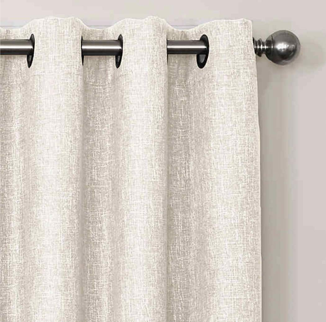 Quinn 63-Inch Grommet Top 100/% Blackout Window Curtain Panel in White