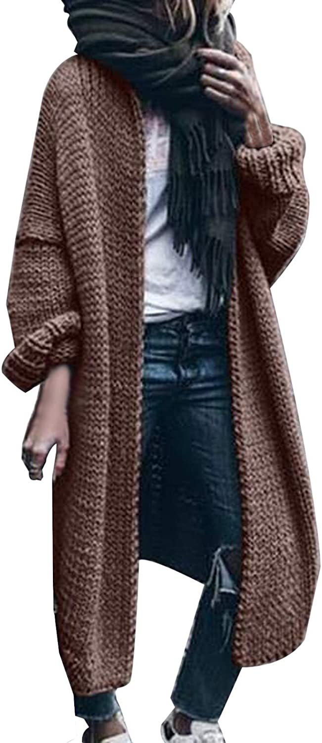 ZSBAYU Womens Plus Size Cardigan Sweaters Coats Jackets Long Length Casual Loose Long Sleeve Outerwear Trendy Sweaters